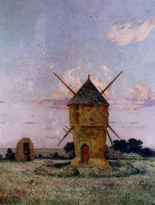 Puigaudeau Ferdinand du Brittany near Pulis aka Windmill near Guerande