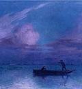 Puigaudeau Ferdinand du Nighttime Boat Ride at Briere