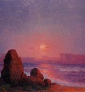 Puigaudeau Ferdinand du Sunset of the Breton Coast