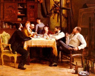 Cormon Fernand Un Dejeuner D Amis