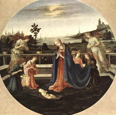 lippi filippino adoration of the child 1480
