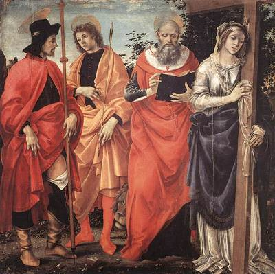 Lippi Filippino Four Saints Altarpiece c1483