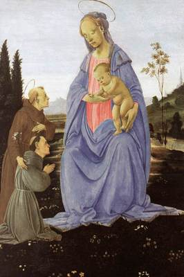 lippi filippino madonna with child st anthony of padua and a friar before