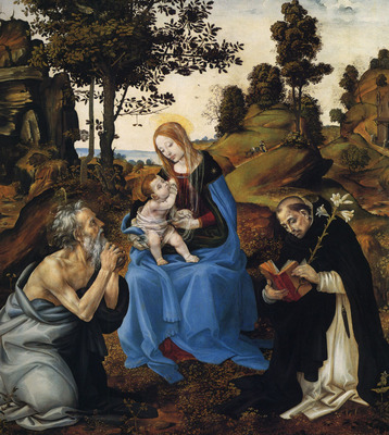 Lippi Filippino The Virgin and child with St Jerome and Dominic