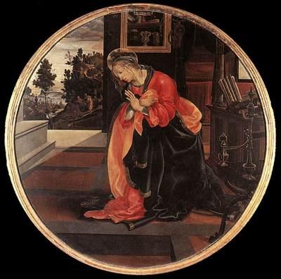 lippi filippino virgin from the annunciation 1483