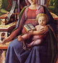Lippi Filippino Madonna and Child enthroned with two Angels