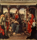 Lippi Filippino Madonna with Child and Saints c1488