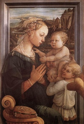 lippi fra filippo madonna with the child and two angels