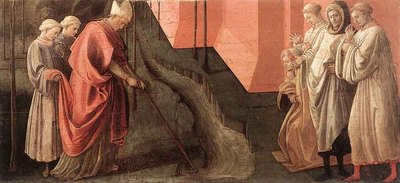 LIPPI Fra Filippo St Fredianus Diverts The River Serchio
