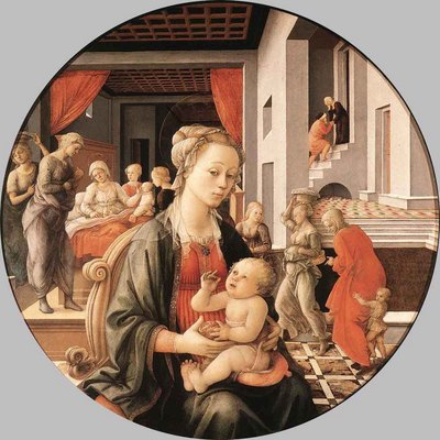 LIPPI Fra Filippo Virgin With The Child And Scenes From The Life Of St Anne