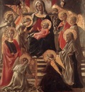 LIPPI Fra Filippo Madonna And Child Enthroned With Saints