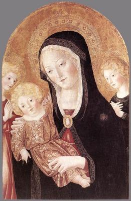 FRANCESCO DI GIORGIO MARTINI Madonna And Child With Two Angels