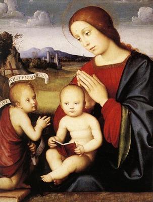 FRANCIA Francesco Madonna And Child With The Infant St John The Baptist
