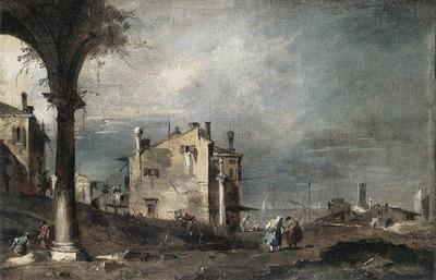 GUARDI Francesco Capriccio with Venetian Motifs