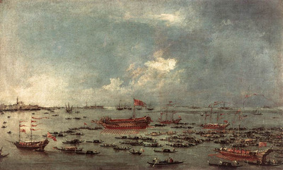 GUARDI Francesco Outward Voyage of the Bucintoro to San Nicolo del Lido