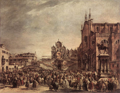 GUARDI Francesco Pope Pius VI Blessing the People on Campo Santi Giovanni e Paolo