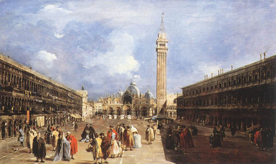 GUARDI Francesco The Piazza San Marco towards the Basilica