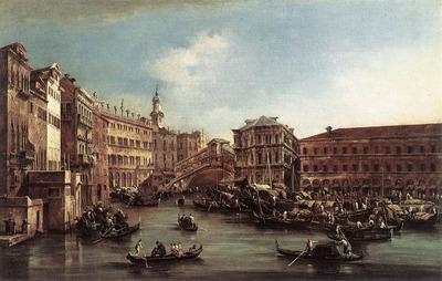 GUARDI Francesco The Rialto Bridge with the Palazzo dei Camerlenghi