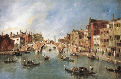 GUARDI Francesco The Three Arched Bridge at Cannaregio