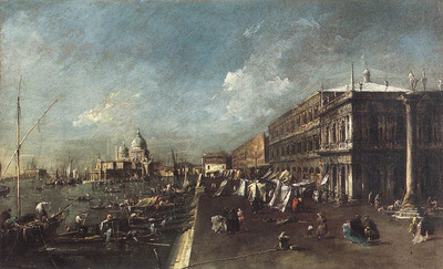 GUARDI Francesco View of the Molo towards the Santa Maria della Salute