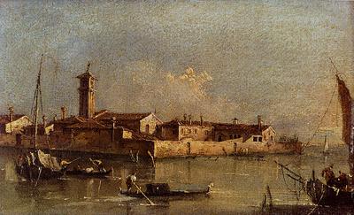 Guardi Francesco View Of The Island Of San Michele Near Murano Venice