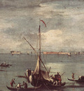 GUARDI Francesco The Lagoon with Boats Gondolas and Rafts