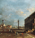 GUARDI Francesco View of Piazzetta San Marco towards the San Giogio Maggiore