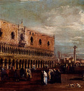 Guardi Francesco Venice A View Of The Piazzetta Looking South With The Palazzo Ducale