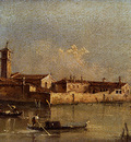 Guardi Francesco View Of The Island Of San Michele Near Murano Venice
