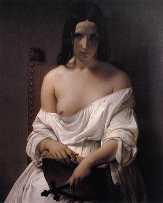 HAYEZ Francesco Meditation On The History Of Italy