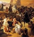 HAYEZ Francesco Crusaders Thirsting Near Jerusalem
