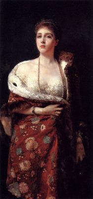 Michetti Francesco Paolo Portrait Of A Lady