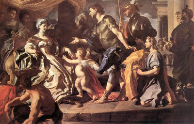 SOLIMENA Francesco Dido Receiving Aeneas And Cupid Disguised As Ascanius