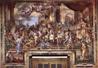 SOLIMENA Francesco Expulsion Of Heliodorus From The Temple