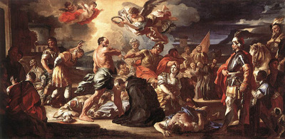 SOLIMENA Francesco The Martyrdom Of Sts Placidus And Flavia
