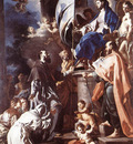 SOLIMENA Francesco St Bonaventura Receiving The Banner Of St Sepulchre From The Madonna