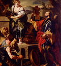 Solimena Francesco Rebecca And Eliezer At The Well
