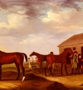 Sartorius Francis Four Racehorses Outside The Rubbing Down House Newmarket
