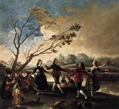 GOYA Francisco de Dance of the Majos at the Banks of Manzanares