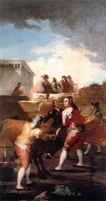 GOYA Francisco de Fight with a Young Bull