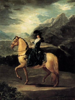 GOYA Francisco de Portrait of Maria Teresa de Vallabriga on Horseback