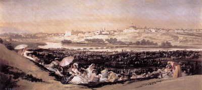GOYA Francisco de The Meadow of San Isidro on his Feast Day