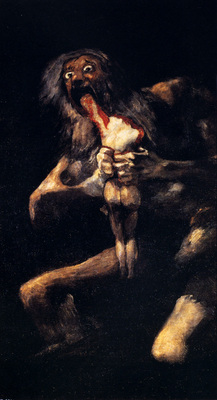 Goya Francisco Saturn Devouring His Sons