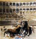 GOYA Francisco de Picador Caught by the Bull