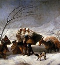 GOYA Francisco de The Snowstorm