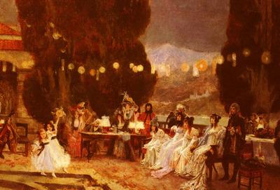 Flameng Francois An Evening s Entertainment For Josephine