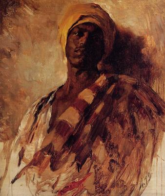 duveneck frank guard of the harem study