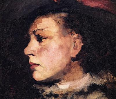 Duveneck Frank Profile of Girl with Hat