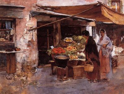Duveneck Frank Venetian Fruit Market