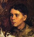 Duveneck Frank Head of a Young Girl